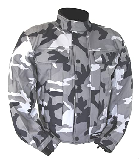kt019 chaqueta moto quad enrejado gris camuflaje militar Marpat Urban