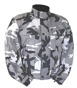 kt019 chaqueta moto quad enrejado gris camuflaje militar ...