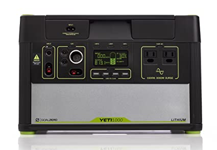 Goal Zero Yeti 1000 Lithium Portable Power Station, 1045Wh Silent Gas Free  Generator Alternative with 7f53ef0860