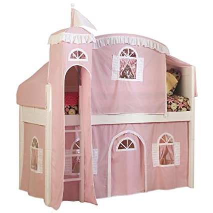 Amazon Com Bolton Furniture 9811500lt5pw Cottage Low Loft Castle