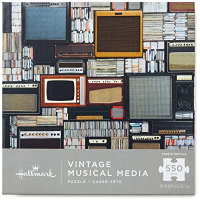 Hallmark Vintage Musical Media 550-Piece Puzzle Puzzles & Games Hobbies & Interests: Toys & Games