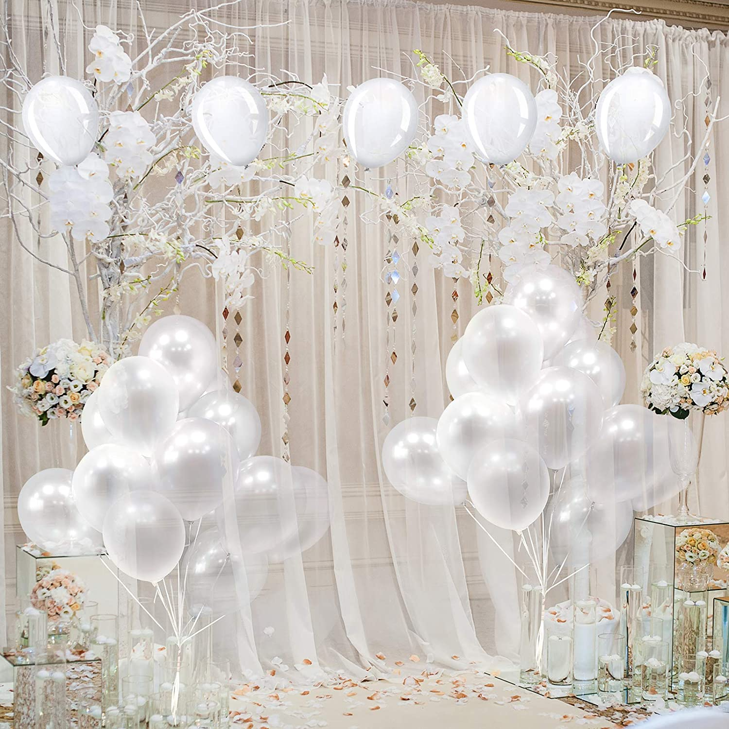 Helium Latex Round Balloons for Photo Shoot Birthday Wedding Engagement Anniversary Valentine/'s Day Christmas Party Picnic Carnival Decorations 200 Pieces Clear Balloons 5 Inch Transparent Balloons