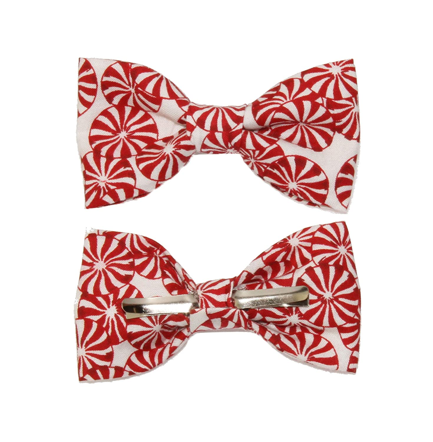 New Chocolate Candies Clip-On Cotton Bow Tie amy2004marie