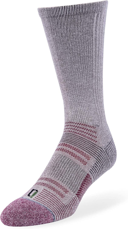 IQ High Performance Wool Blend Cushion Comfort Casual Crew Socks for Men 4 Pack