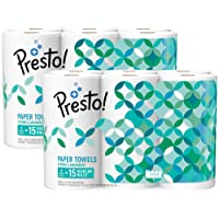 12-Count Presto Flex-a-Size Paper Towels Huge Roll