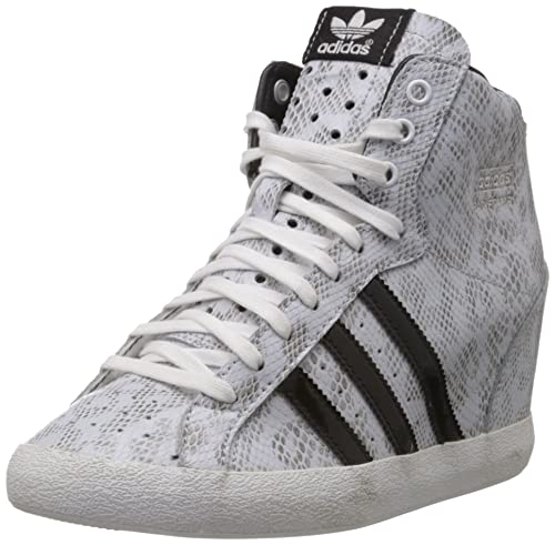 new product 26b59 a6a21 adidas Originals Women s Basket Profi Up W White and Black Sneakers ...