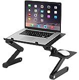 Sofia + Sam Laptop Stand Tray   Lapdesk   Adjustable Foldable Lightweight   Table Desk   Standing Desk   Aluminum