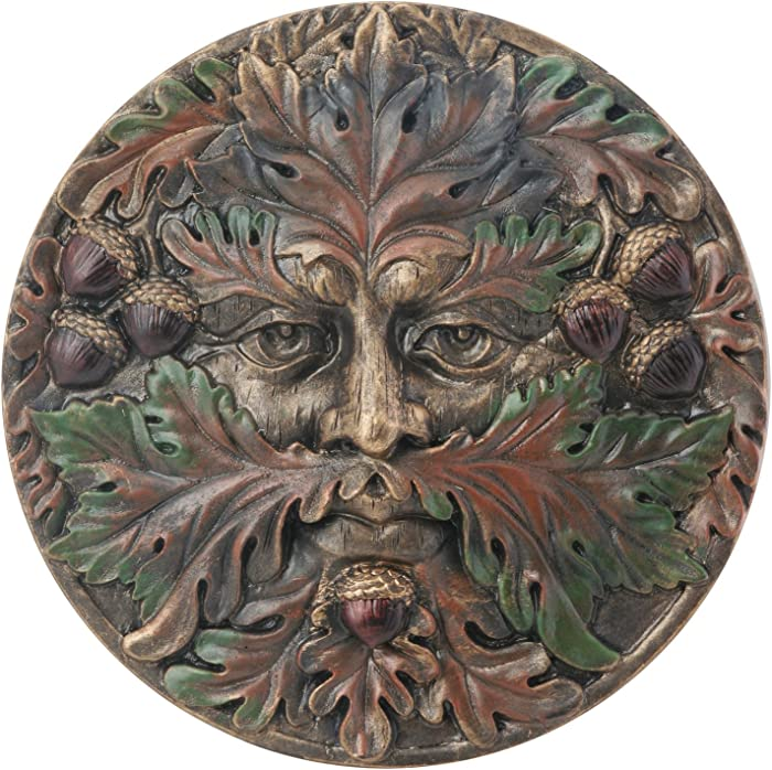 Greenman Plaque-Fall - Collectible Figurine Statue Sculpture Figure
