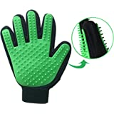 Pet Deshedding Glove - Double-sided Shedding Brush - Hair Remover For Dogs and Cats -Pet Grooming Tool Fits Right & Left Hands