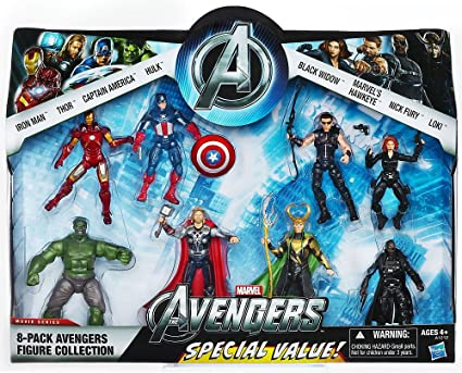Marvel Exclusive Action Figure 8 Pack The Avengers Iron Man Thor Captain