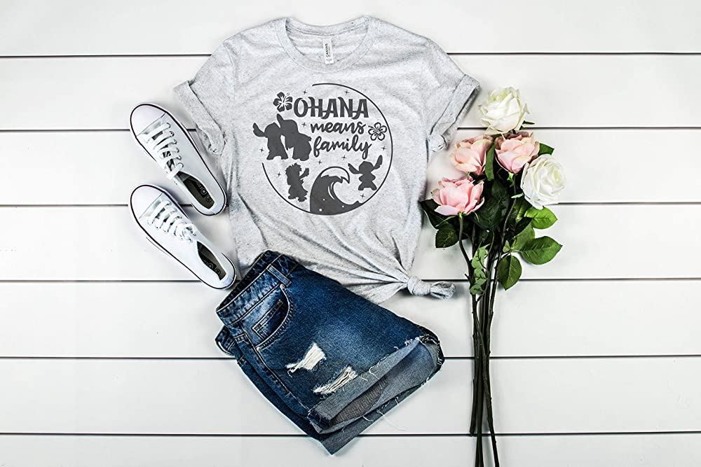 Ladies Fit Tee Stitch OHANA Means Family