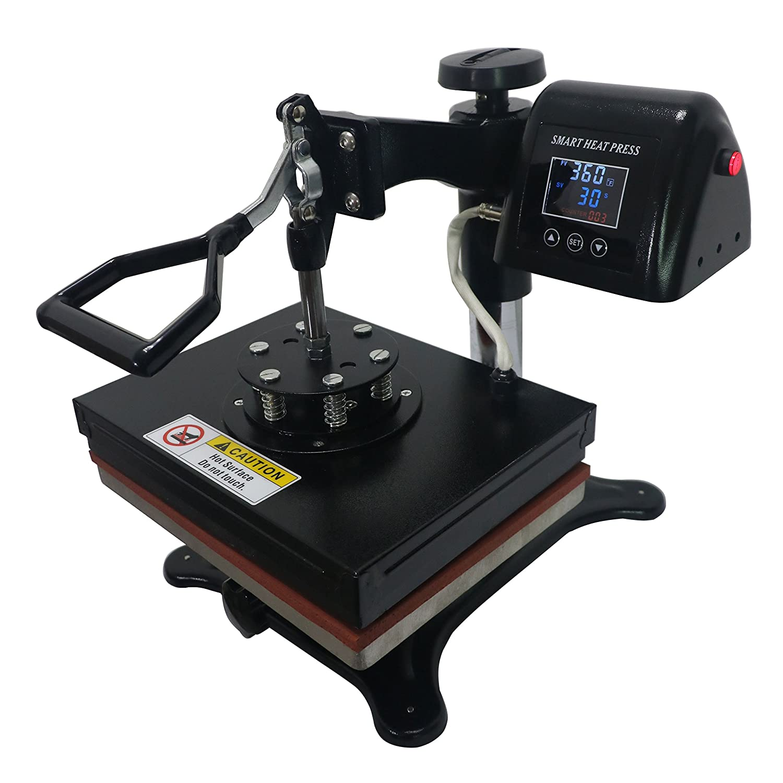 "360/° Swing Away ROVSUN 8 in 1 Heat Press Machine,Transfer Sublimation Multifunction Rhinestone//T-Shirt//Hat//Mug//Plate//Cap//Mouse Pads DIY Heat Press 12/"" x 15/"" 1250W Black"