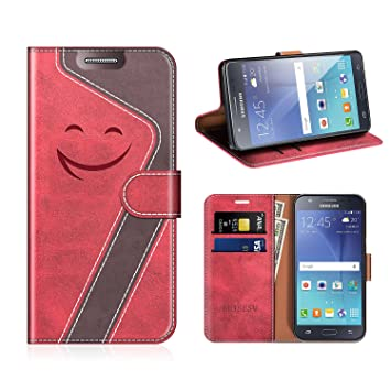 MOBESV Smiley Funda Cartera Samsung Galaxy J5 2015 Magnético, Funda Cuero Movil Samsung J5 2015 Carcasa Case con Billetera/Soporte para Samsung Galaxy ...