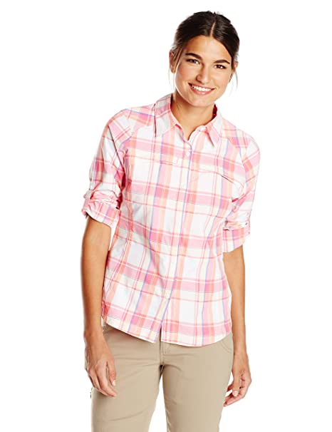 20f67fc292c Amazon.com : Columbia Sportswear Womens Silver Ridge Plaid Long Sleeve Shirt  : Clothing