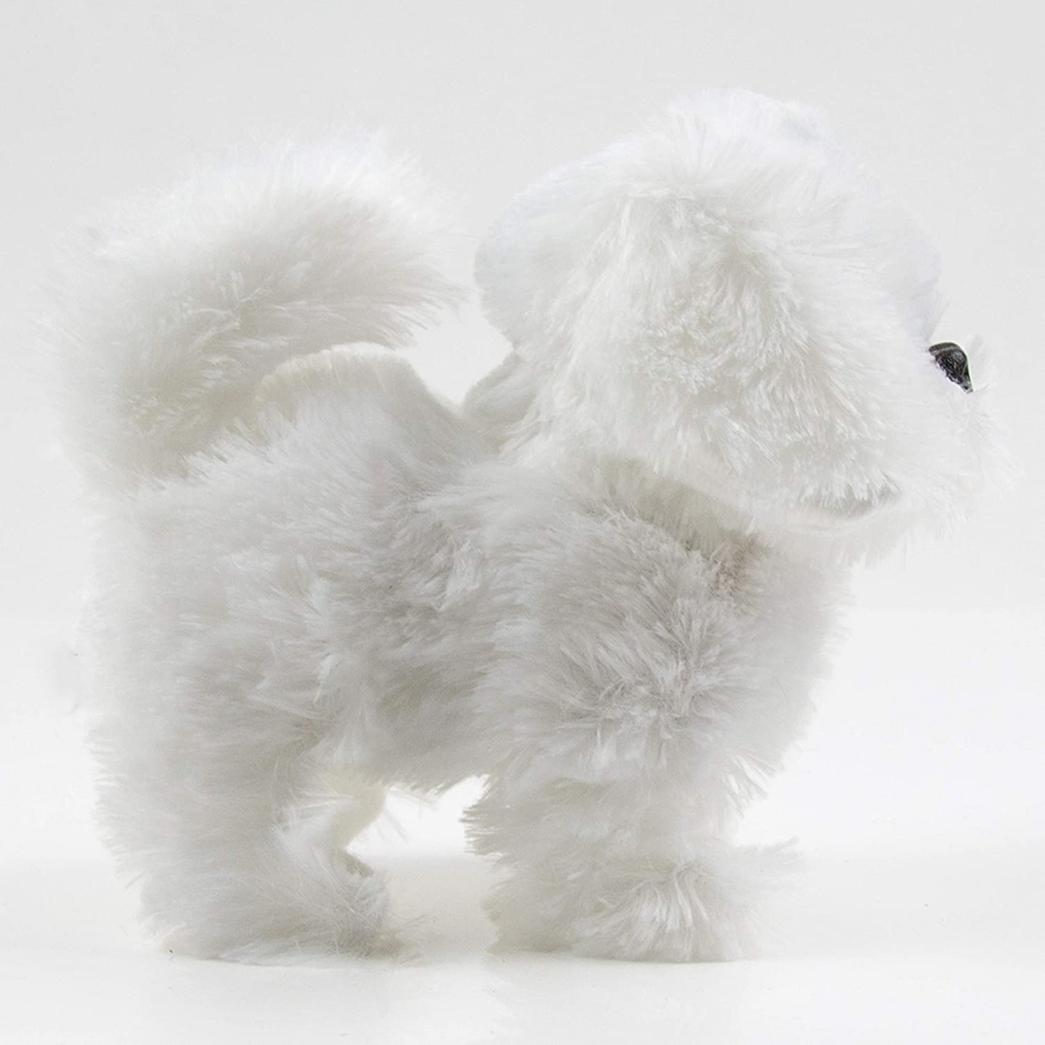 Toysery Puppy Plush Dog Toy Walking Barking Wagging Tail Lucky Kids Pet Toy Battery Operated