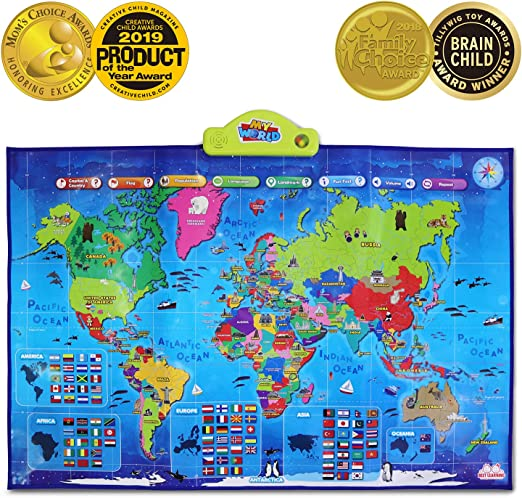 BEST LEARNING i-Poster My World Interactive Map - Educational Talking on latin america map quiz game, central america map quiz game, oceania map quiz game, world map quiz game, africa map quiz game, northern asia map quiz game,