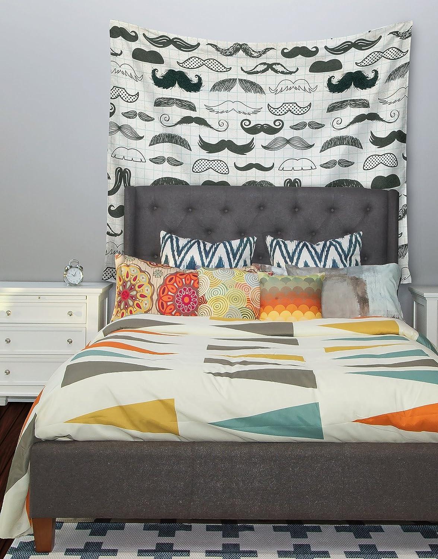51 X 60 Kess InHouse Heidi Jennings Stached Gray Black Wall Tapestry
