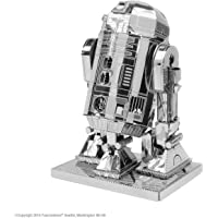 Star Wars-Maqueta de Metal 3D R2-D2, Color Plateado