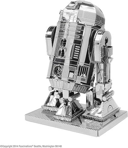 Star Wars-Maqueta de Metal 3D R2-D2, Color Plateado Earth MMS250