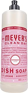 product image for Mrs. Meyer's Clean Day Liquid Dish Soap, Cruelty Free Formula, Peppermint Scent, 16 oz