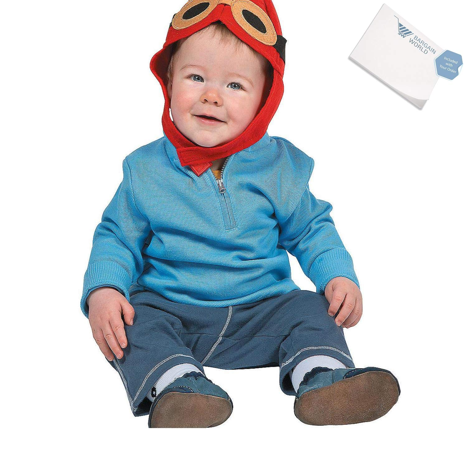 Felt Baby Aviator Hat With Sticky Notes