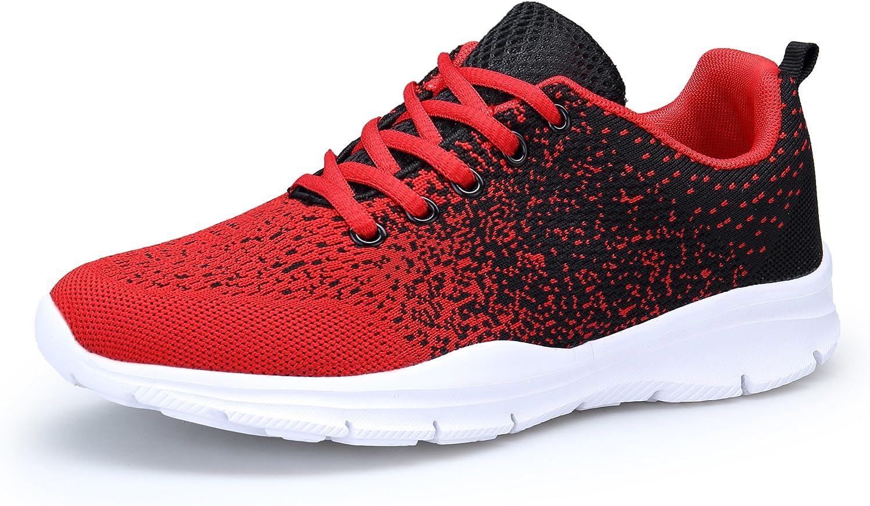 DAFENP Zapatillas Running Hombre Mujer Zapatos Deporte para Correr Trail Fitness Sneakers Ligero Transpirable (46 EU ...