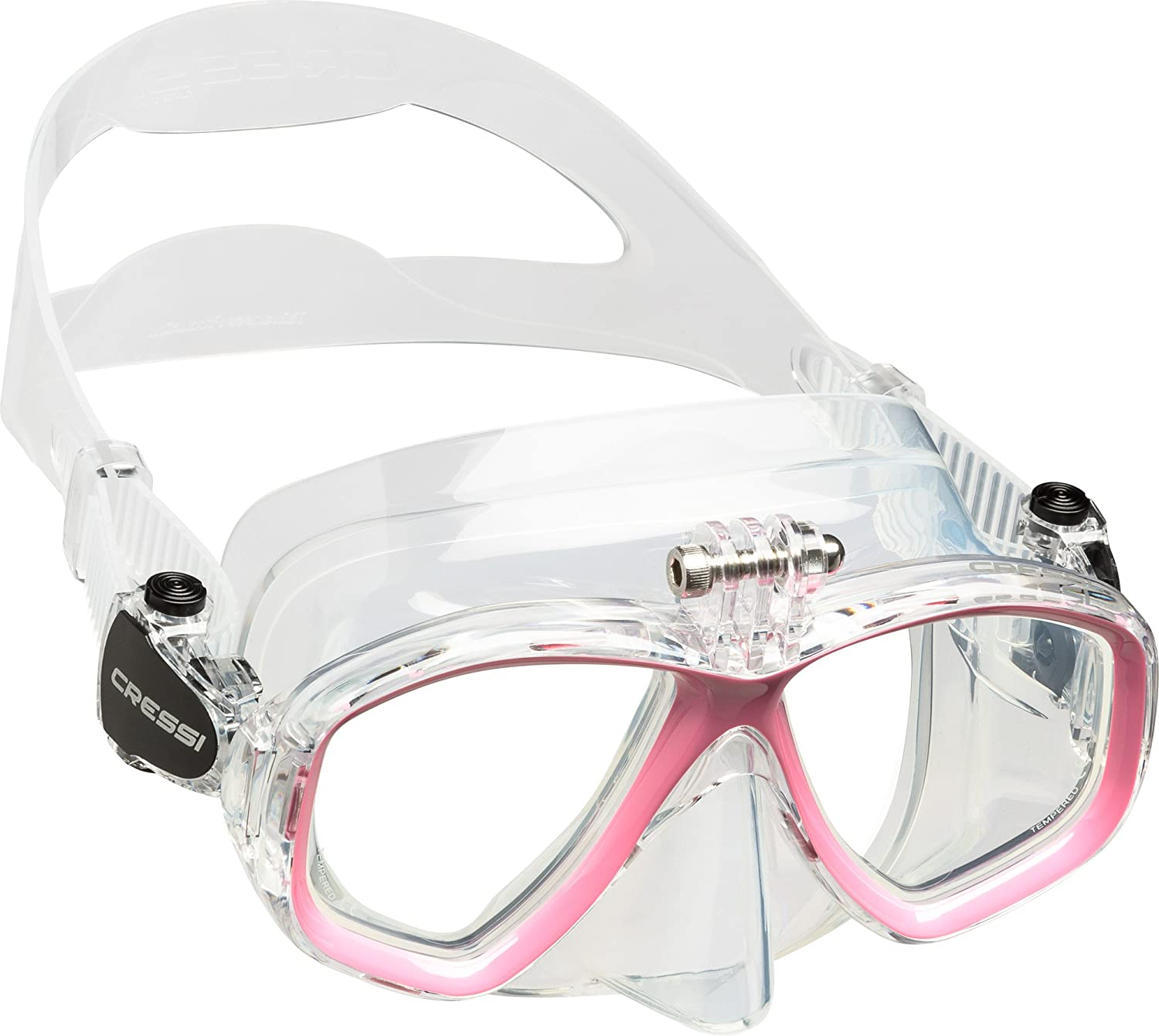 Cressi High Quality Diving//Snorkeling Mask with Action Cam Attack