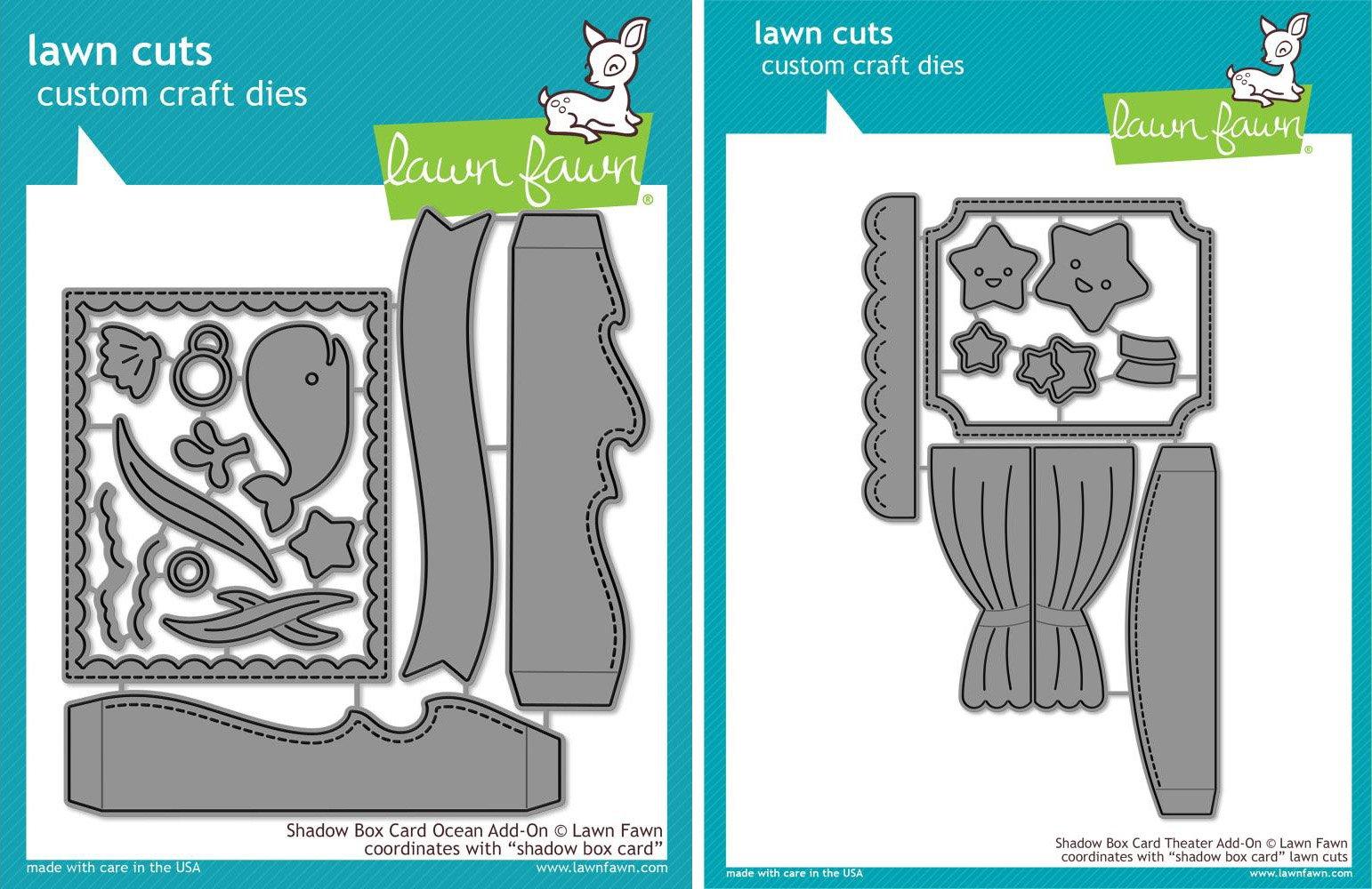 Lawn Fawn - Lawn Cut Dies - Shadow Box Ocean Add-On Dies and Shadow Box Theater Dies - 2 Item Bundle