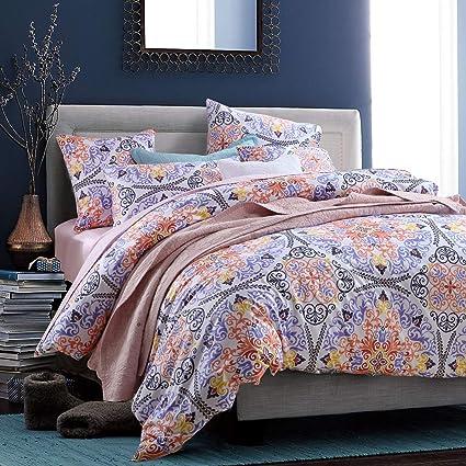 Amazon Com Softta Boho Bedding Sets King Bohemia Style 3pcs Damask