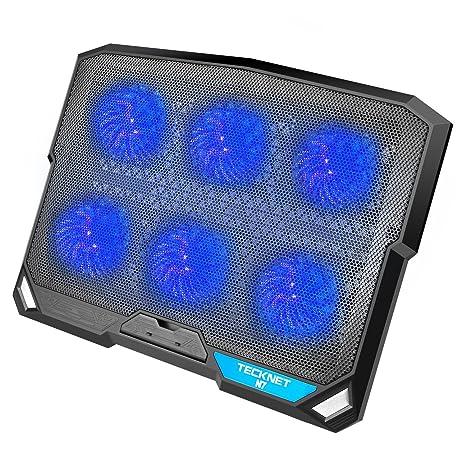 TeckNet N8 - Base refrigeradora para portátil y Notebook con 3 ventiladores, para