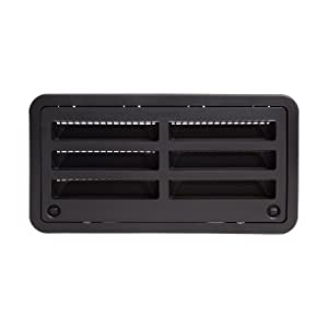 "RV Camper Trailer 20"" Dometic Refrigerator Side Wall Vent, Black 3109492.004"