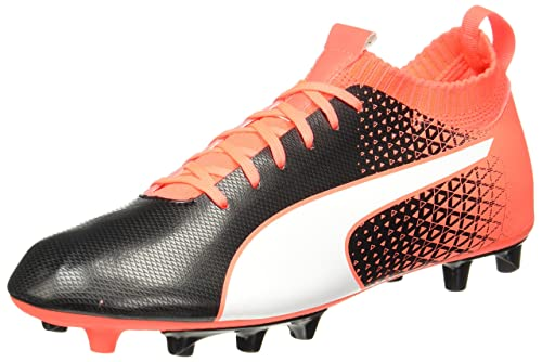 259a33108bf6 Puma Evoknit FG Firm Ground Mens Football Boot Shoe Black Red - UK 8