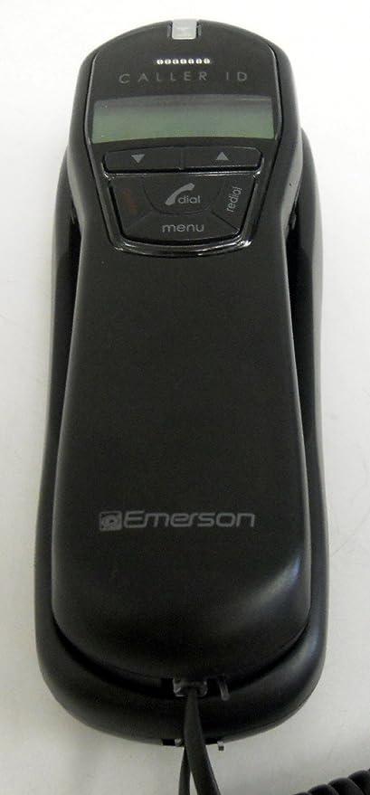 black caller id emerson wall mount phone