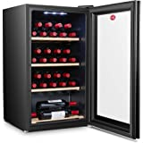 Hoover 150 Liters, 30 Bottles Free standing Wine cooler, Black - HWC30B-X, 1 Year Warranty