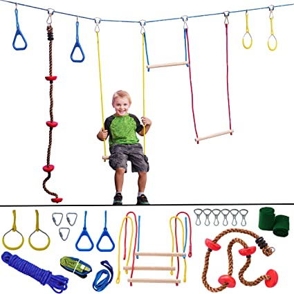 Amazon.com: Ninja Hanging Obstacle Course - Portable 40 ...
