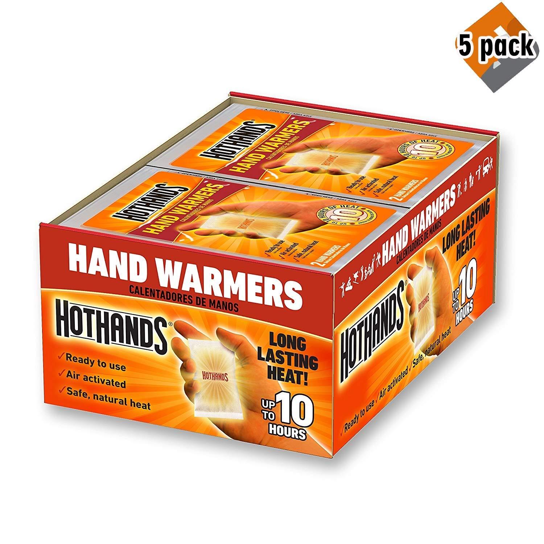 HeatMax Hot Hands 2 Handwarmer (40 Pairs) - 5 Pack by HeatMax