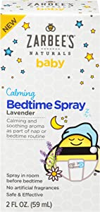 Zarbee's Baby Calming Bedtime Spray with Lavender and Chamomile, 2 Ounce