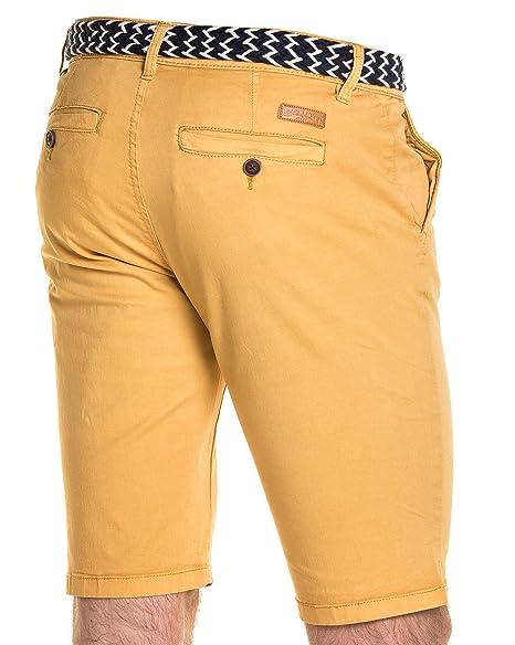 2cc6de32309d4 BLZ Jeans - Bermuda Homme Moutarde Chino 5 Poches - Couleur: Jaune ...