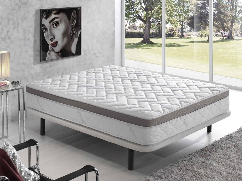 Living Sofa COLCHÓN VISCOELASTICO VISCOELASTICA Premium Acolchado con Hilo DE Plata ANTIESTÁTICO 105 x 180 (Todas Las Medidas): Amazon.es: Hogar