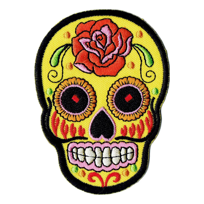 Wxkl – Parche, diseño de calavera mexicana Wxkl - Parche Bestellmich