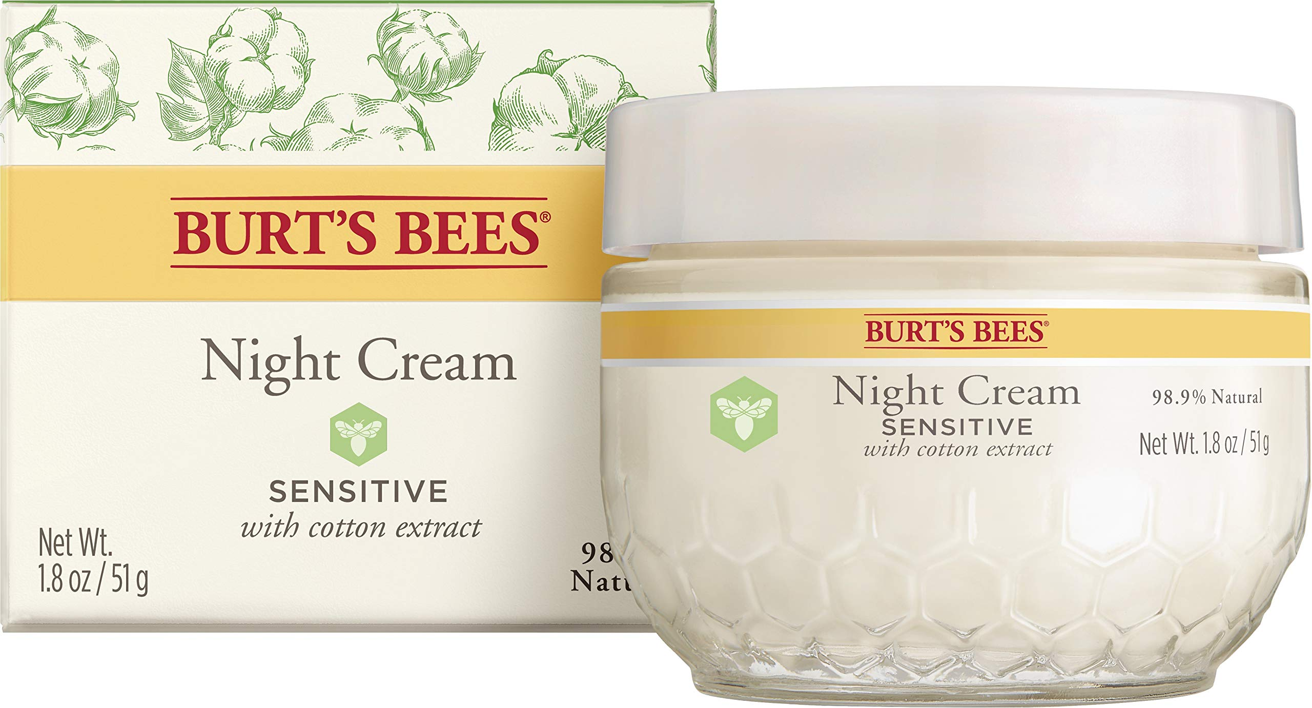 Burt's Bees Night Cream for Sensitive Skin, 1.8 Ounces by Burt's Bees