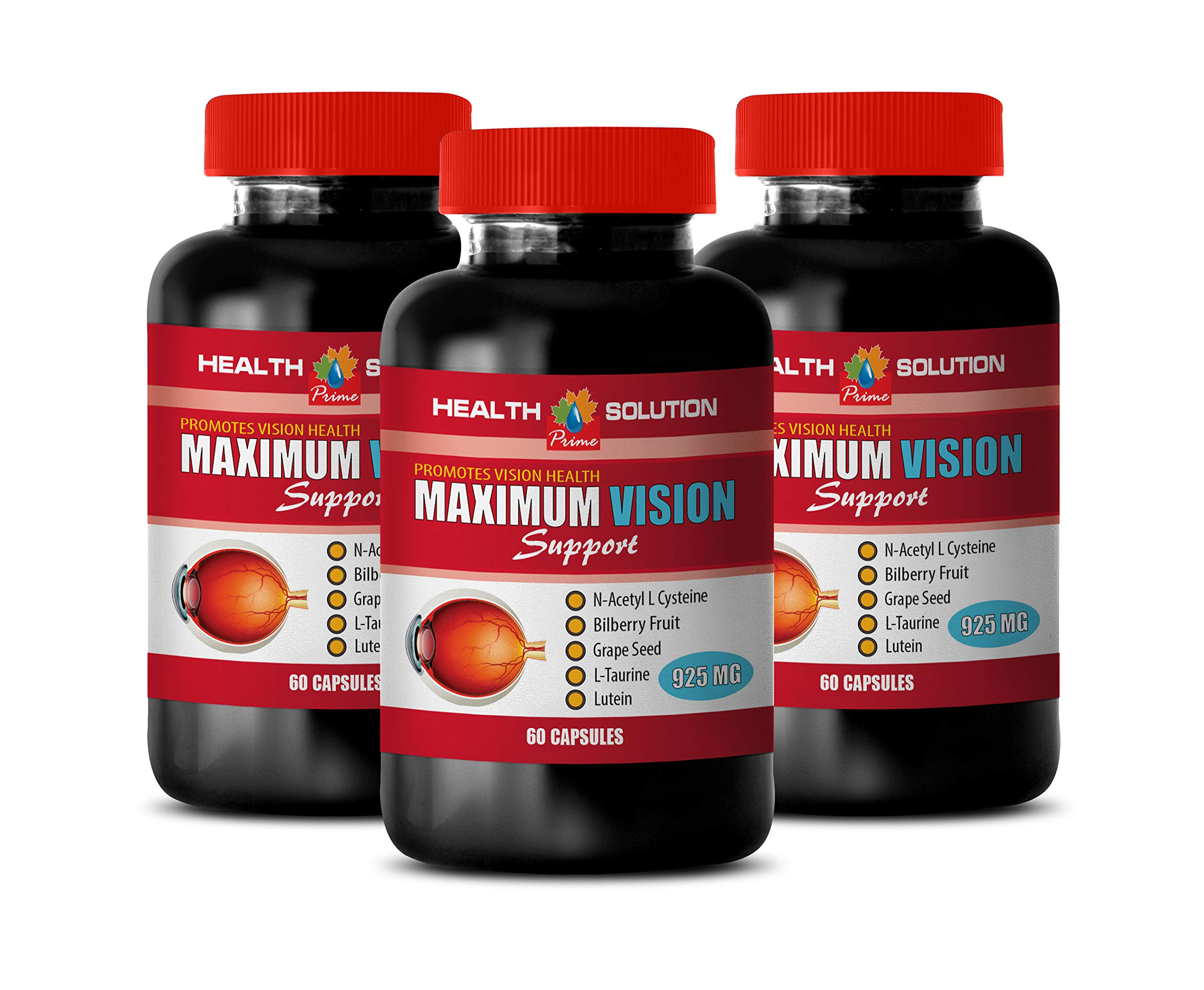 Vision Health with Lutein - Maximum Vision Support - Promotes Vision Health - Grape Seed Extract Capsules - 3 Bottle 180 Capsules