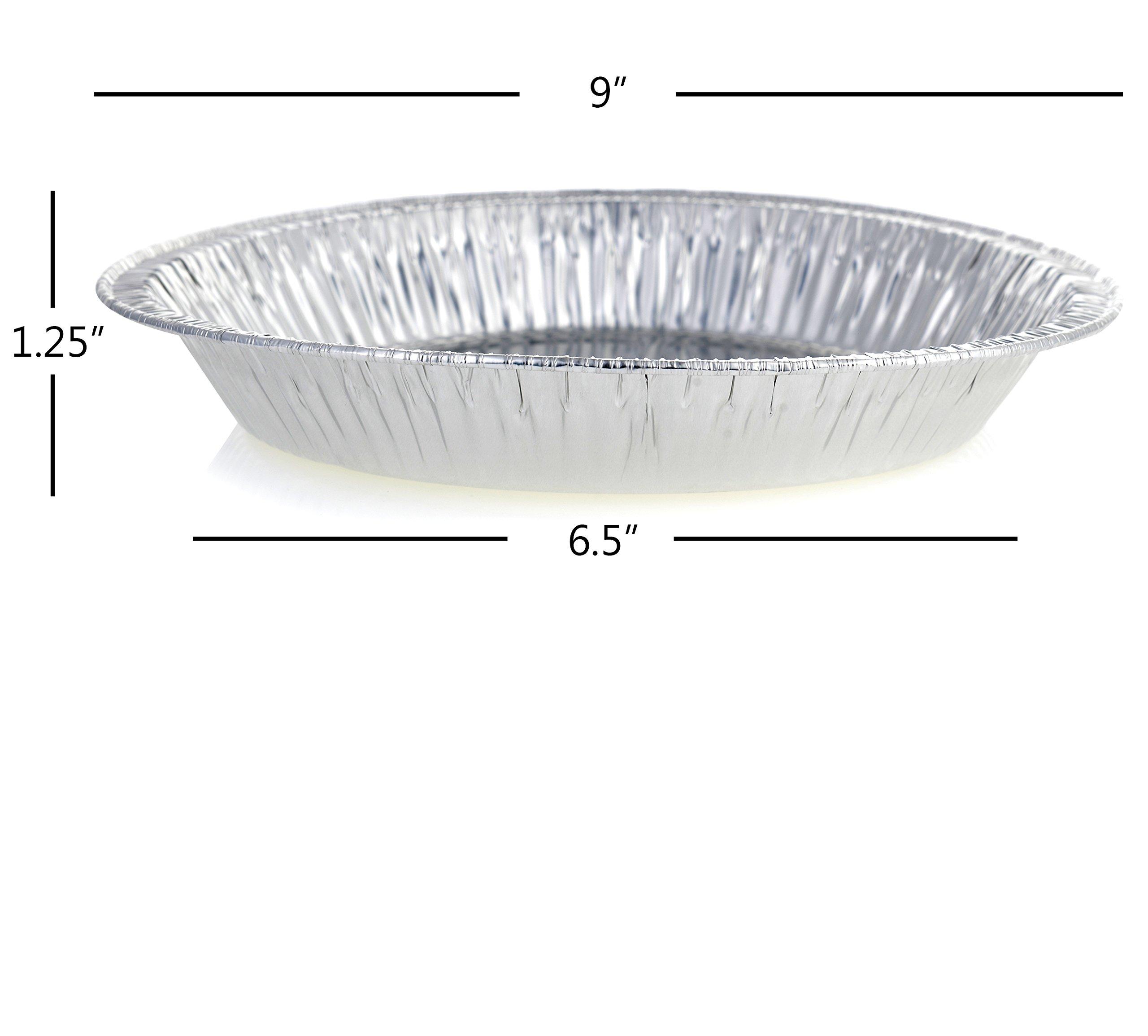 DOBI 9'' Pie Pans (30 Pack) - Disposable Aluminum Foil Pie Plates, Standard Size, 9'' x 1.25'' by DOBI (Image #3)