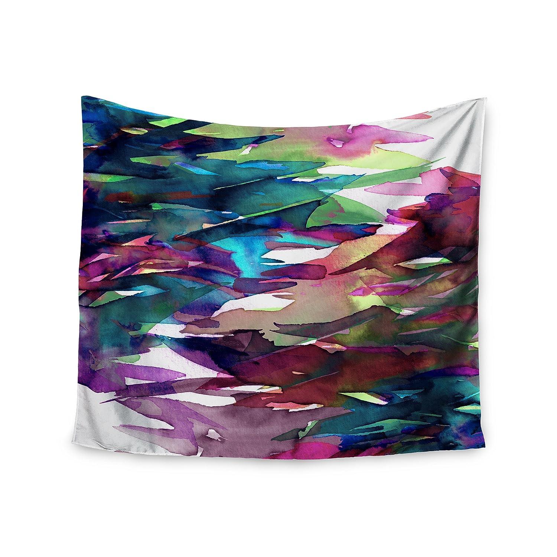 51 x 60 Kess InHouse EBI Emporium Fervor 4 Magenta Abstract Wall Tapestry