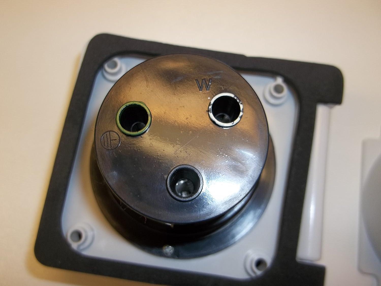 30 amp RV power inlet box white