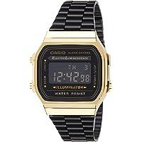 Casio Unisex-Adult Quartz Watch, Digital Display and Stainless Steel Strap A168WEGB-1BDF