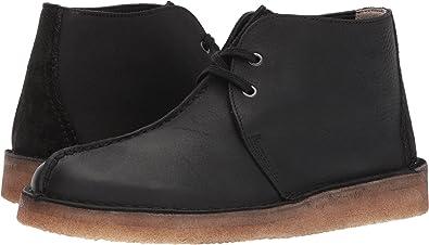 clarks desert trek black leather