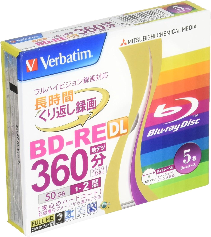 20 Verbatim Mitsubishi 50GB 2x BD-RE DL Blank Blu-ray Slow Ship no case