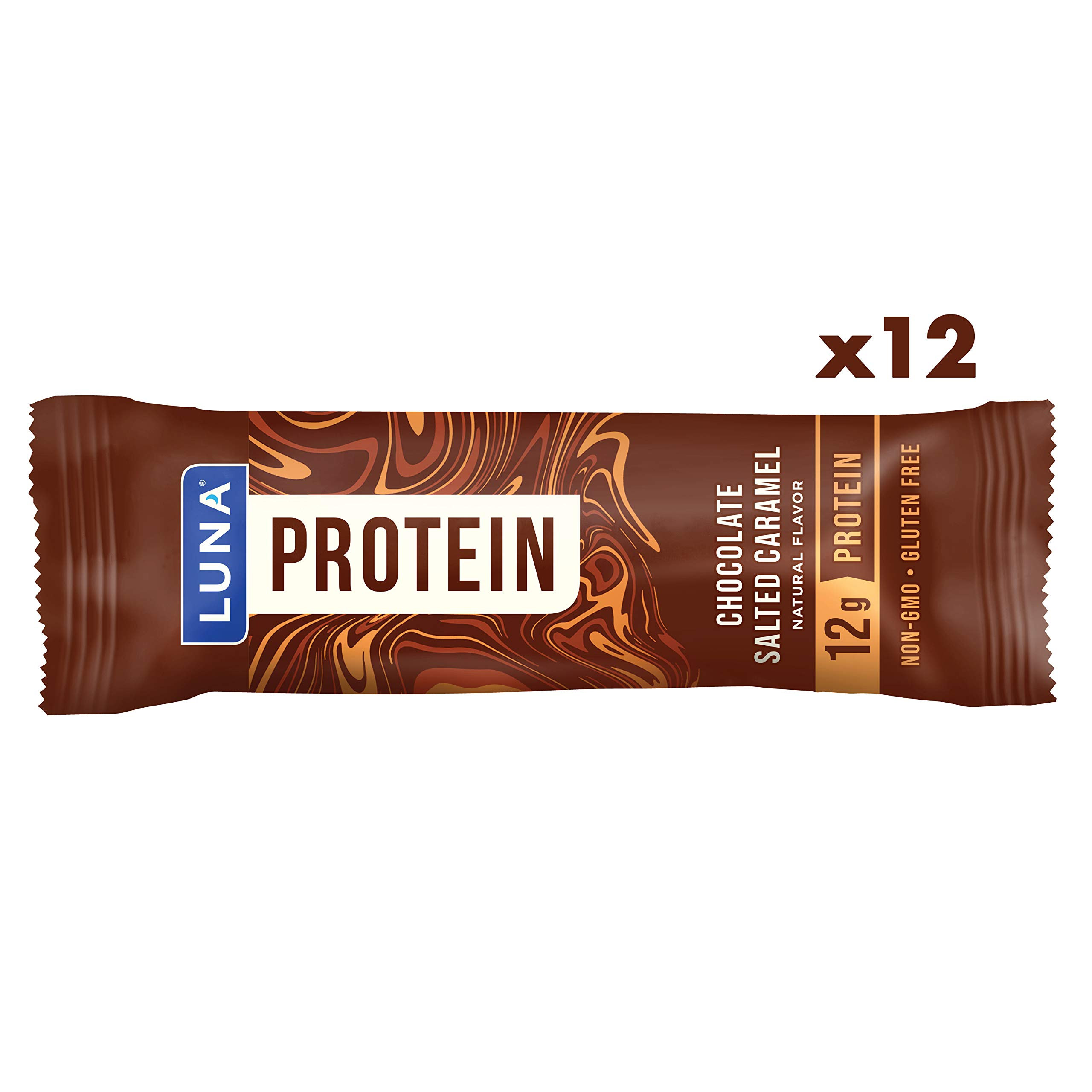 Luna Protein - Gluten Free Protein Bars - Chocolate Salted Caramel Flavor - (1.59 Ounce Snack Bars, 12 Count) by Clif Bar