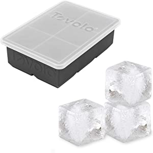 "Tovolo King, XL Lid 2"" Whisky & Spirits, BPA-Free Silicone, Dishwasher-Safe Ice Cube Tray, Single, Charcoal"